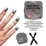 Magic Mirror Chrome Powder Silver - mini mani moo - nail art