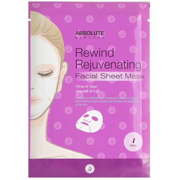 AFSM05 Absolute New York Rewind Rejuvenating Facial Sheet Mask