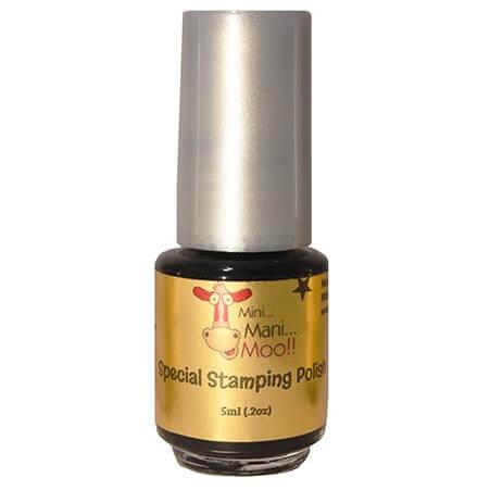 Nail Art Polish 5ml Black - mini mani moo - nail art