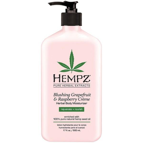 hempz blushing grapefruit & raspberry creme herbal body moisturizer - hempz - body