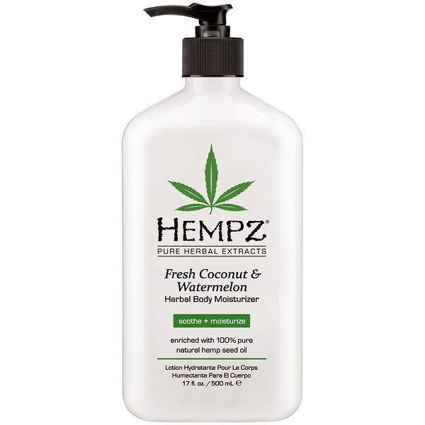 hempz fresh coconut & watermelon herbal body moisturizer - hempz - body