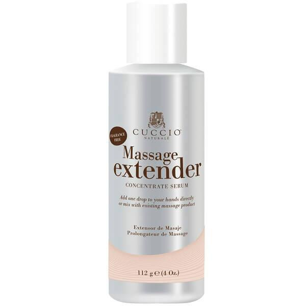 massage extender with aronia berry and tea tree - cuccio - massage