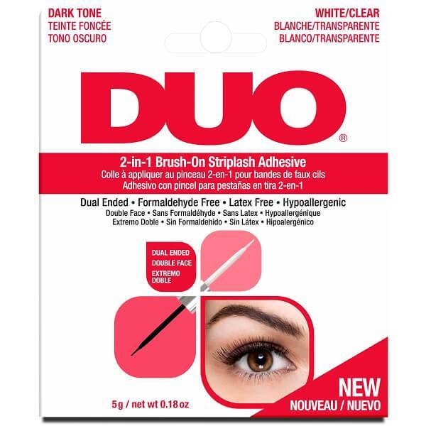 DUO 2-In-1 Brush-On Strip Lash Adhesive Dark & Clear