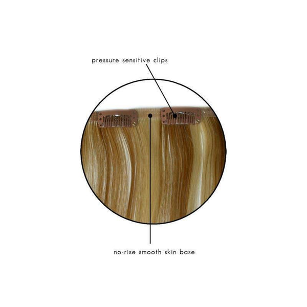 easixtend hd5 16 inch, straight, 5 piece clip in hair extensions - easihair - extensions