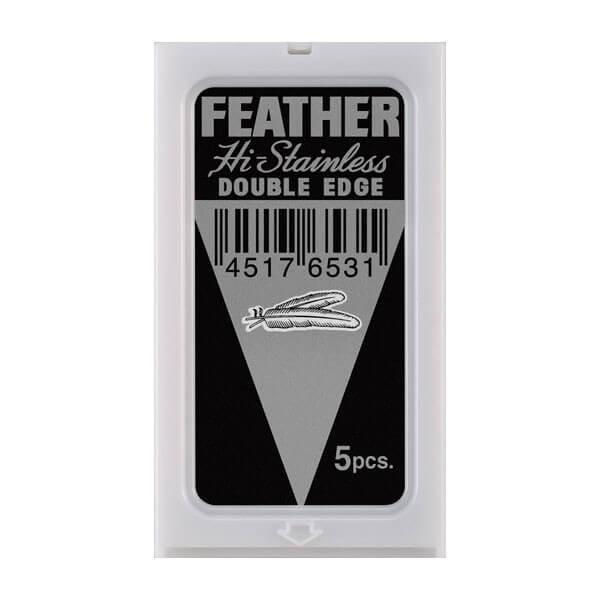 Feather 5pk double edge blades