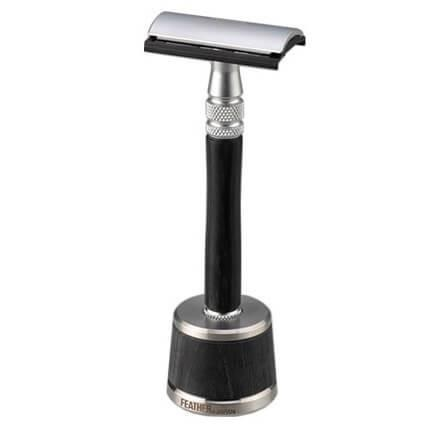 Double Edge Razor w/Stand by Feather | HB Beauty Bar