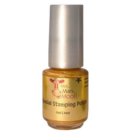 Nail Art Polish 5ml Gold - mini mani moo - nail art 2