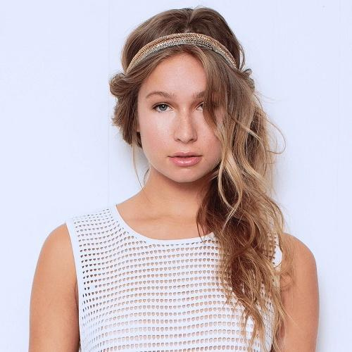 alton headband gold - tassel - hair