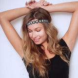 hollywood headband pewter blue - tassel - hair