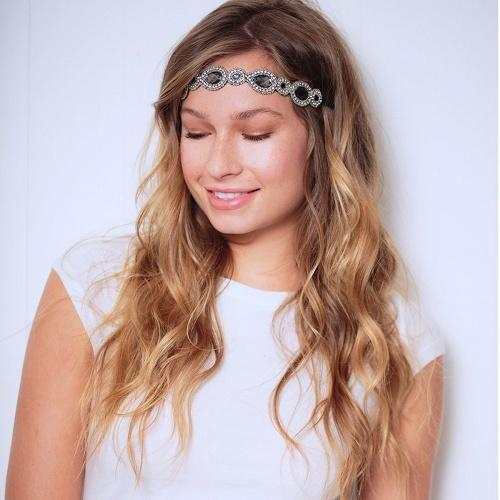 park ave headband silver - tassel - hair