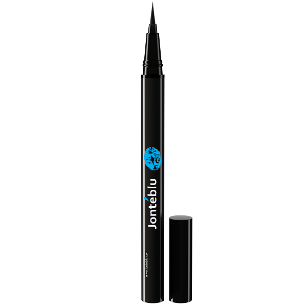 liquid eyeliner brush. waterproof brush tip liquid eyeliner by jontéblu;