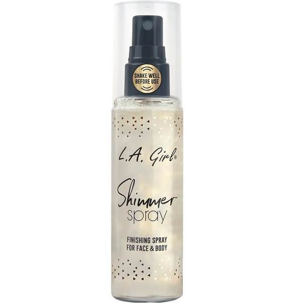 LA Girl Shimmer Spray - Gold - Finishing Spray for Face and Body
