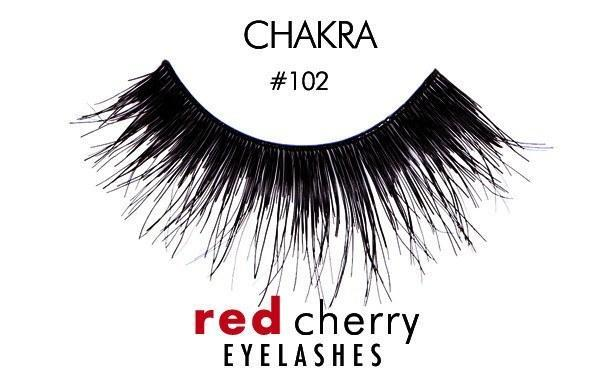 102 - chakra - red cherry lashes - lashes