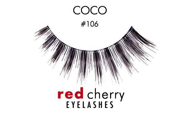 106 - coco - red cherry lashes - lashes