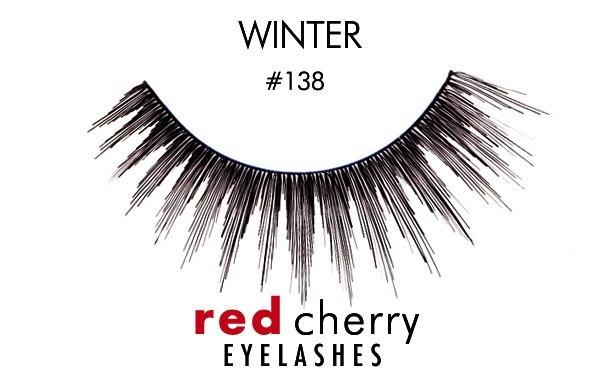 138 - winter - red cherry lashes - lashes