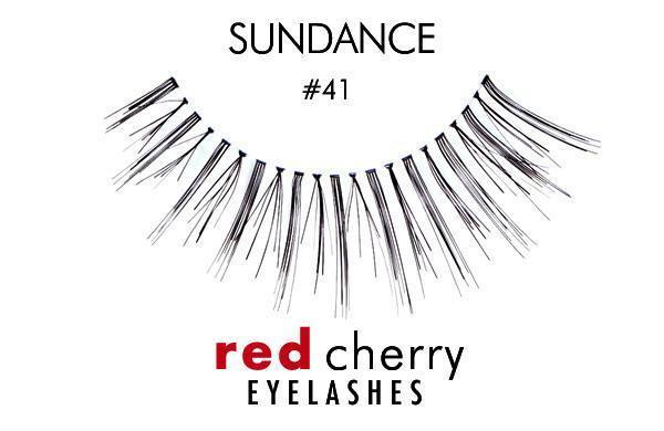 41 - sundance - red cherry lashes - lashes