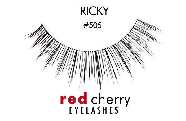 505 - ricky - red cherry lashes - lashes