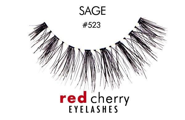 523 - sage - red cherry lashes - lashes
