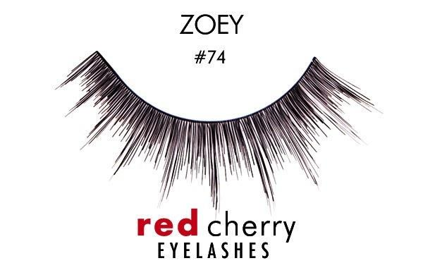 74 - zoey - red cherry lashes - lashes