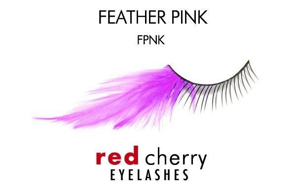 fpnk - feather pink - red cherry lashes - lashes