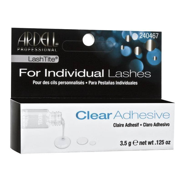 lashtite adhesive - clear - ardell - lashes