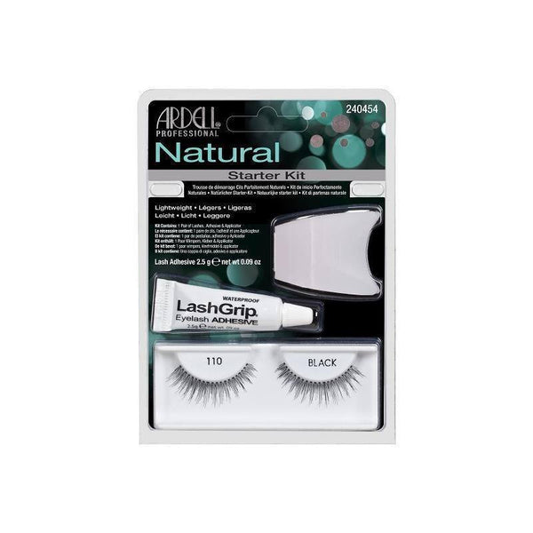 natural 110 black starter kit - ardell - lashes