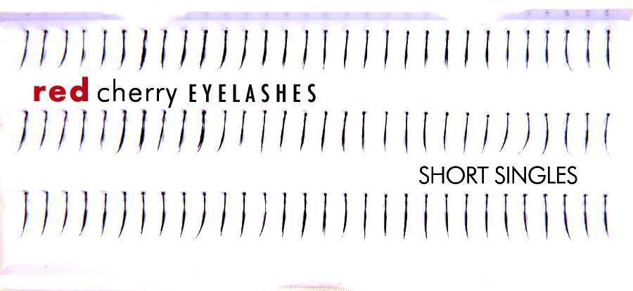 short singles - red cherry lashes - lashes