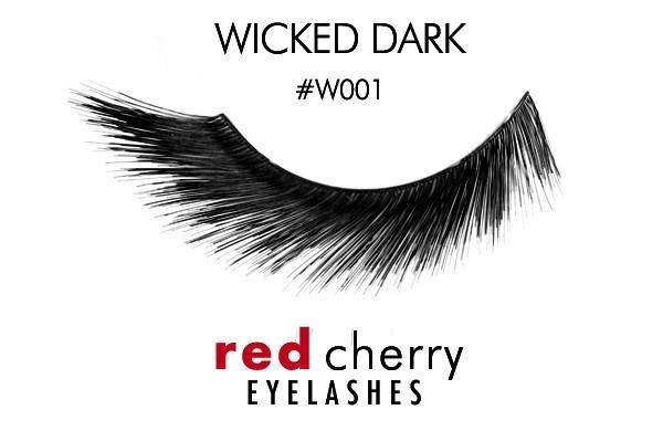 w001 - wicked dark - red cherry lashes - lashes