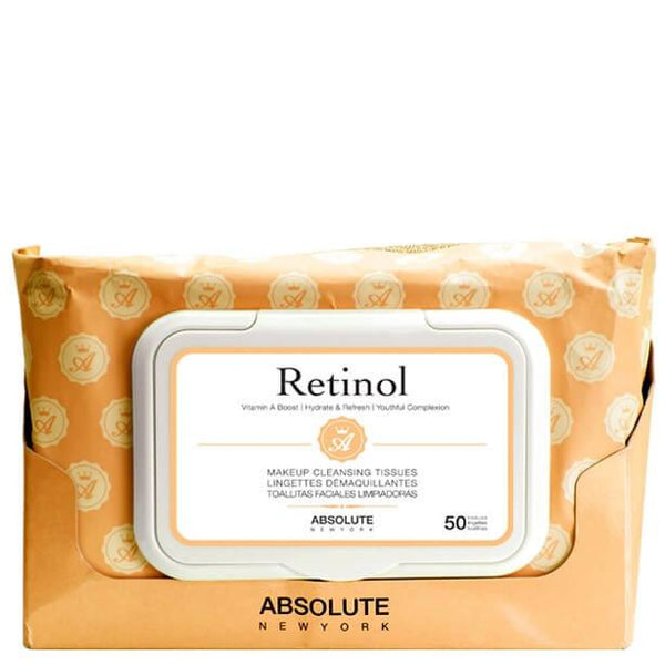 Absolute New York Makeup Cleansing Tissues, Collagen, 50 Ct 6 Pack - Dermabrush Peppermint Body Scrub 1.7 oz