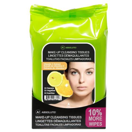Makeup Cleansing Tissue 33 Pack - Absolute New York - Cleansing Tissue