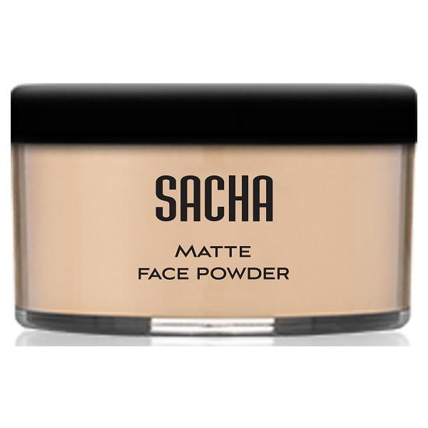 sacha Matte face powder - sacha cosmetics - translucent face powder