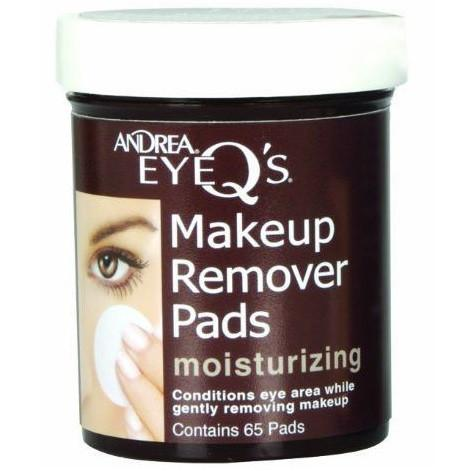 eye q's moisturizing eye makeup remover pads - andrea - lashes 2
