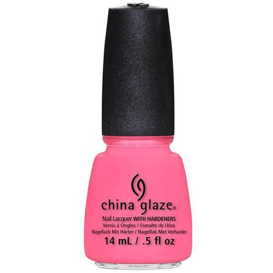 neon and on and on - china glaze - nail polish