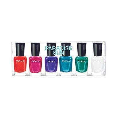 paradise sun collection sampler - zoya - nail polish