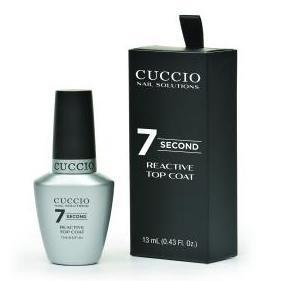 super 7 second reative top coat - cuccio - nail polish