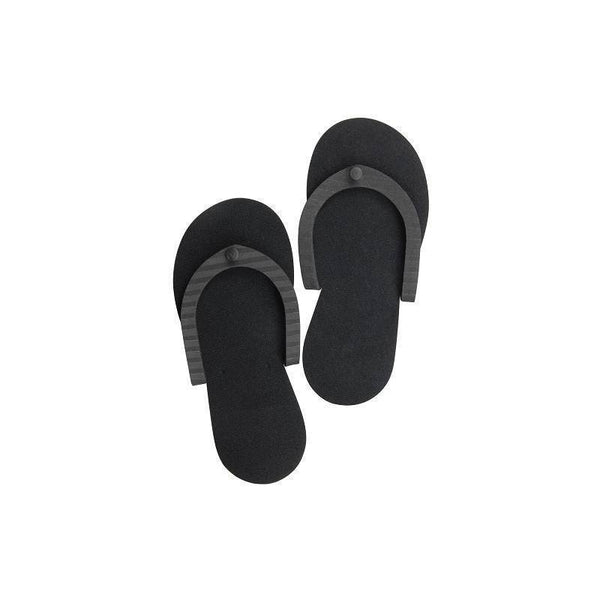 pedi slippers (black) - cuccio - nails