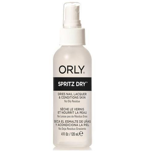 spritz dry - orly - nails