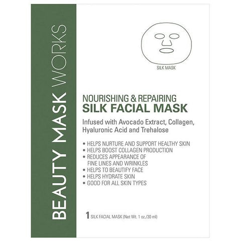 Beauty Mask Works Moisturizing & Soothing Silk Facial Mask