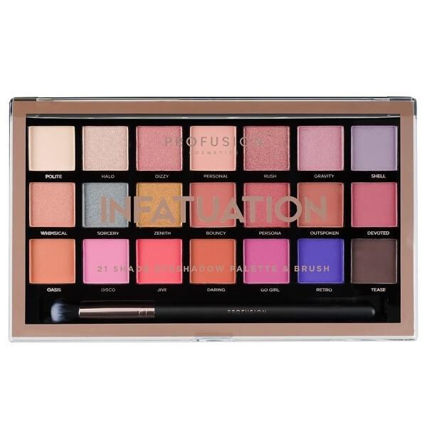 Profusion Cosmetics Infatuation Palette & Brush