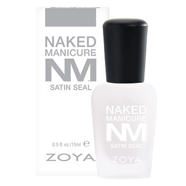 satin seal top coat - zoya naked manicure - nail care
