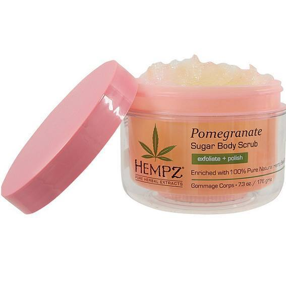 hempz pomegranate herbal sugar body scrub - hempz - skincare & body