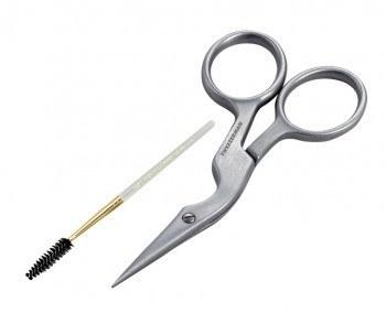 brow shaping scissors and brush - tweezerman - tools