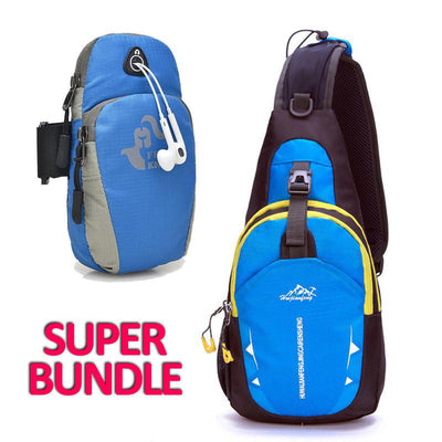 ★ Runners Bundle ★ Crossbody Shoulder Bag + Arm Bag For Your Phone