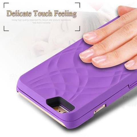 ★ Mirror ★  Phone Case Wallet W/ Card Slot Samsung 7/7 Edge 8/8 Plus - SocialVIP