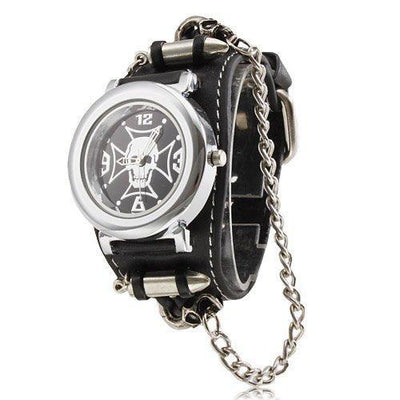 unisex silver amazon com watches cole cuff reaction watch slp case strap dial kenneth bikers street biker black