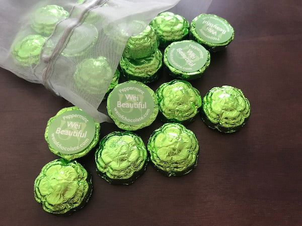 Wei Beautiful Peppermint Chocolate - 50 Bulk Stickered Pieces
