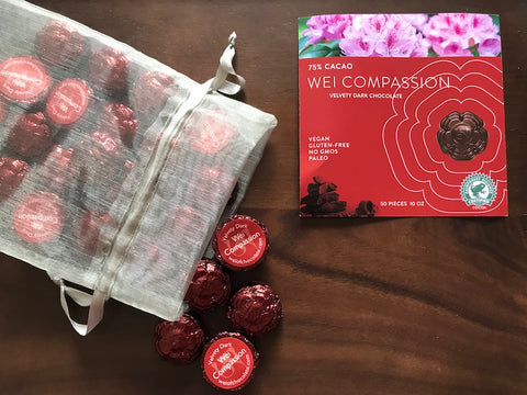 Wei Compassion Velvety Chocolate - 50 Bulk Stickered Pieces