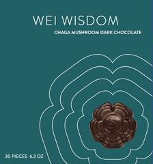 Wei Wisdom Chaga Mushroom Chocolate - 30pc Box