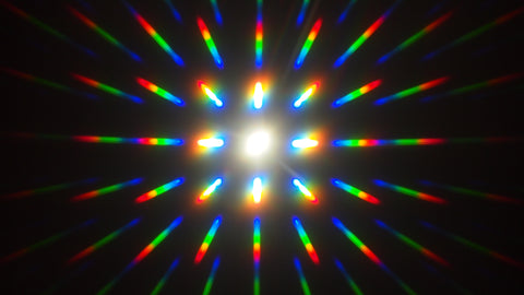 firework len diffraction glass