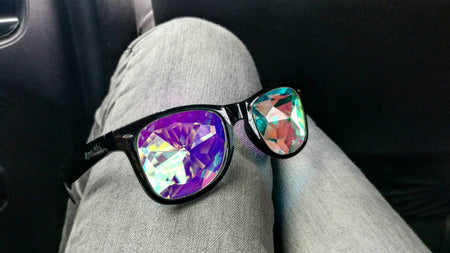 Intense Crystal Rainbow Kaleidoscope Effect rainbow crystal lens Sunglasses Women Men Party Festival  Glasses at SuperFried's Festival Accessories and Sunglasses Online store